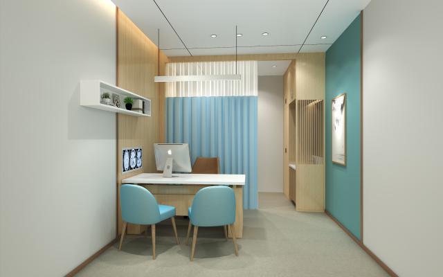 现代医院诊室 电脑 书桌椅