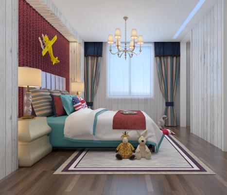 现代儿童卧室
