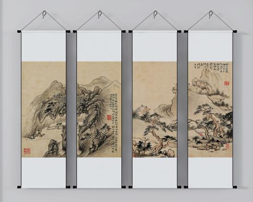 新中式裝飾畫,掛畫