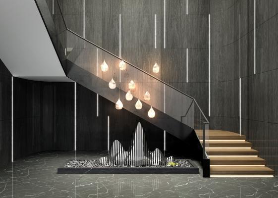 现代楼梯间 楼梯