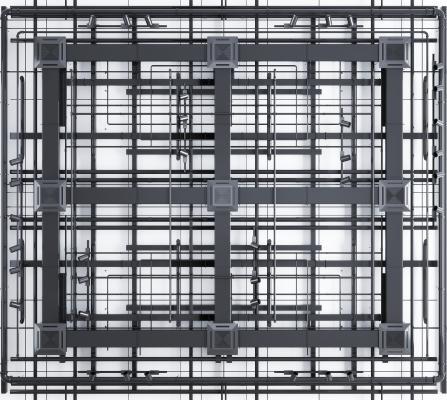 工业风通风管线槽线管天花轨道灯 工业风管道 吊顶通风口