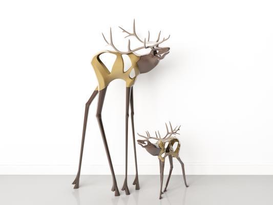 现代摆件装饰品 鹿