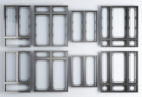 新中式铝合金窗户 窗框组合 窗户 窗框