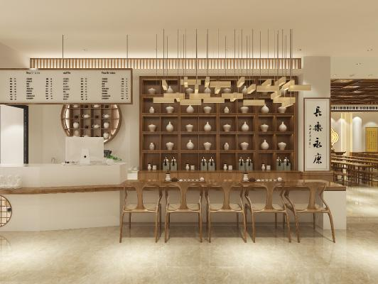 新中式佛堂流通处 寺庙斋堂