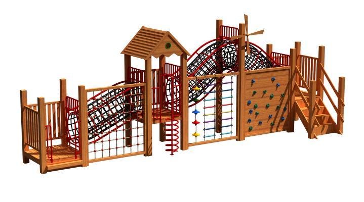 现代儿童滑梯 娱乐器材 攀爬架