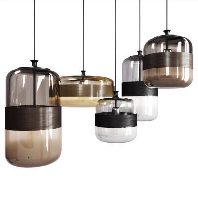 现代圆形玻璃吊灯