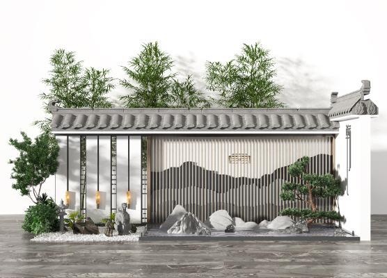 新中式景观小品 庭院景观 户外景观