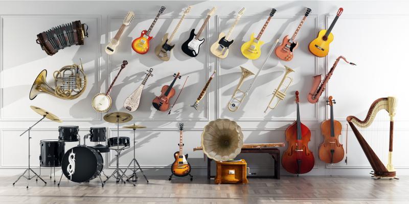 现代吉他 架子鼓 手风琴 沙克斯 小号乐器
