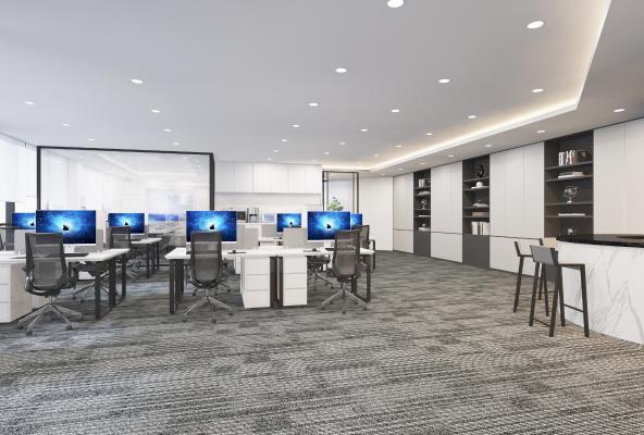 现代办公室 办公桌椅