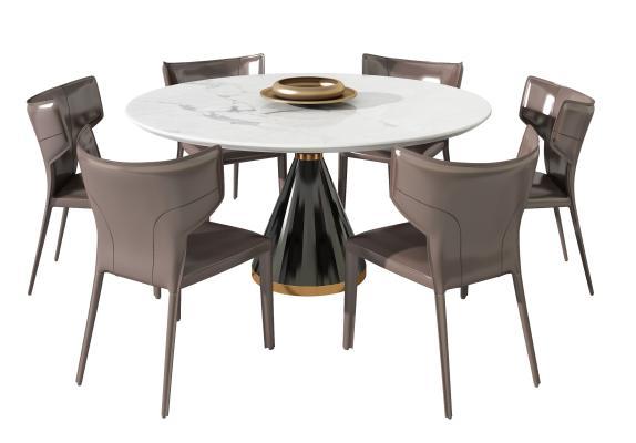 现代餐桌餐椅组合