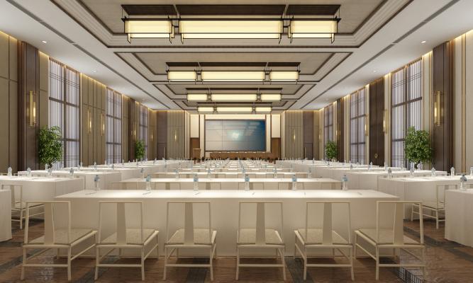 新中式宴会厅 大酒店会议中心