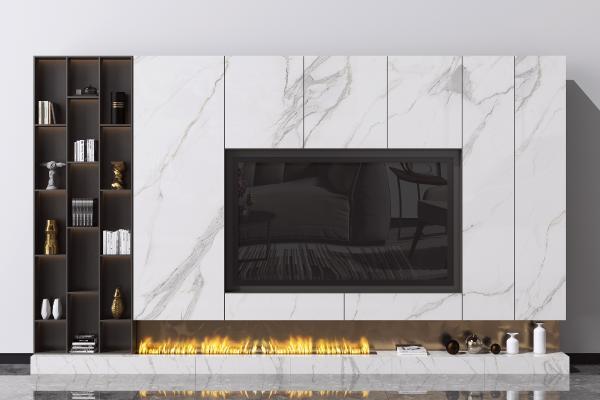 现代电视背景墙 造型墙 装饰品摆件