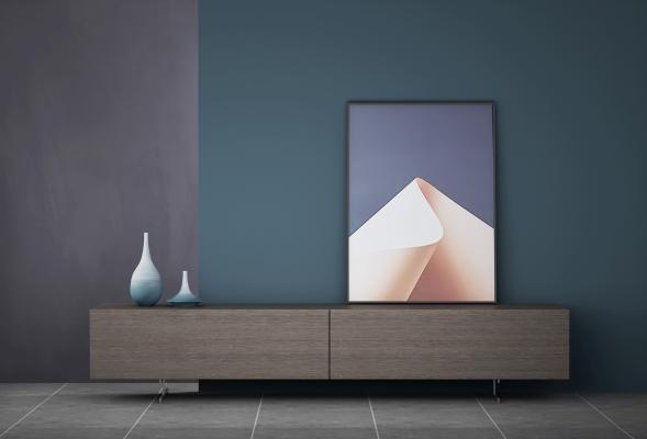 現代電視柜 裝飾畫