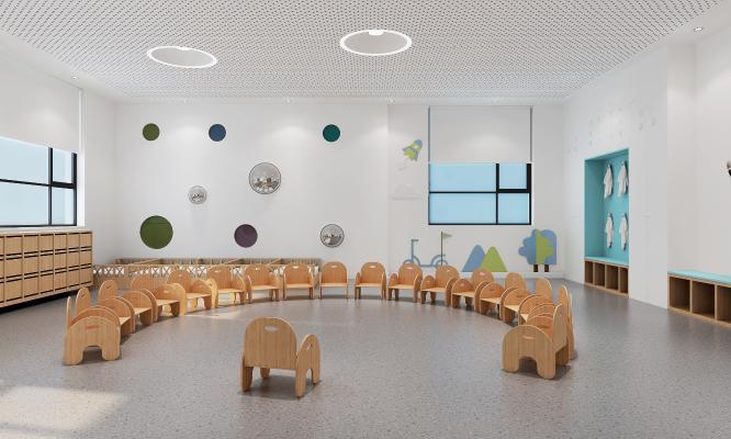 北欧幼儿园教室 活动室