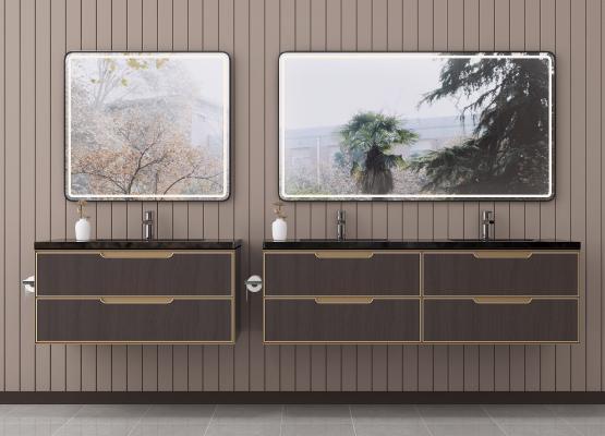 新中式洗手台 洗面盆 浴室柜