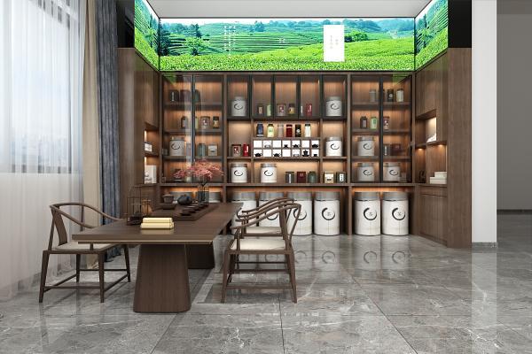 新中式茶叶店 不锈钢茶叶罐