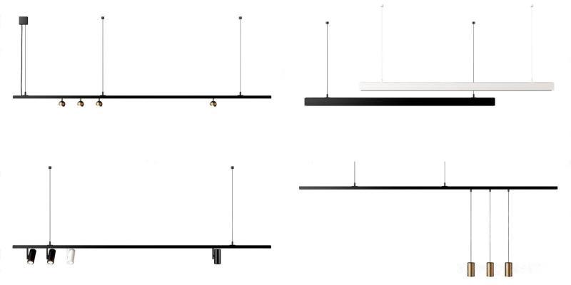 現代軌道燈 吊燈