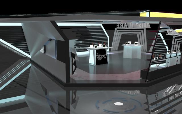 现代外星人电脑展厅