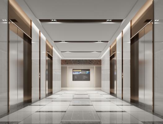 现代电梯过道