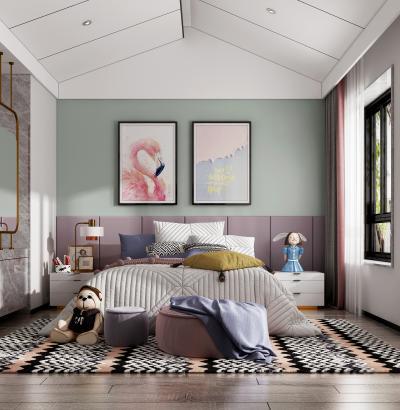 现代女儿房 儿童房 卧室