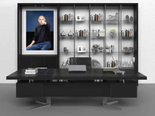 现代办公桌 工作台 桌椅组合