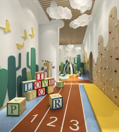 現代兒童娛樂區 娛樂室 玩耍區