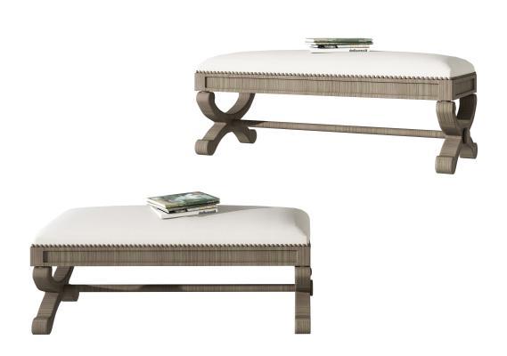 美式布艺创意沙发凳,贵妃椅,书本,木头凳子