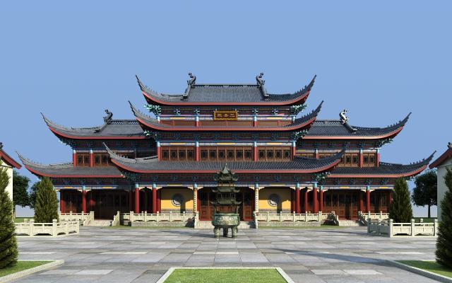 中式古建寺庙