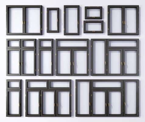 现代窗户 铝合金窗户