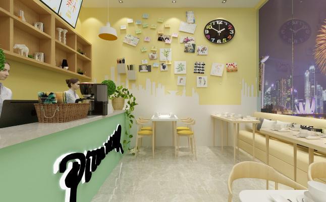 现代网红快餐店