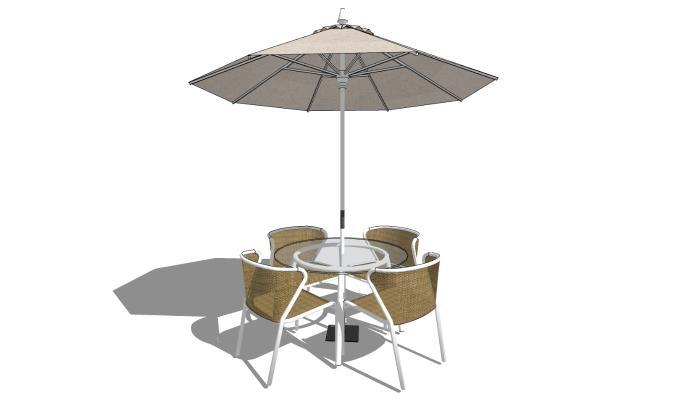 现代风格户外椅 休闲桌椅组合 遮阳伞