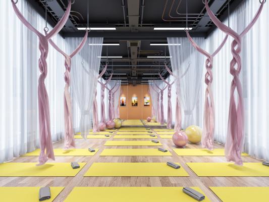 现代瑜伽室 瑜伽绳