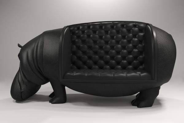 后现代河马动物沙发