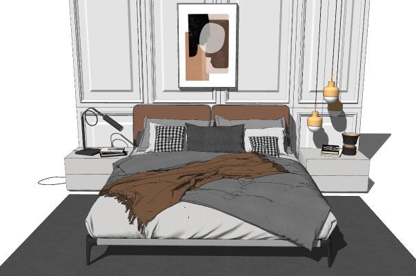 现代简约轻奢双人床