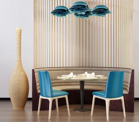 现代餐椅 卡座