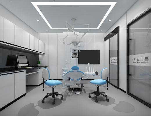 现代口腔医院 手术台 柜子