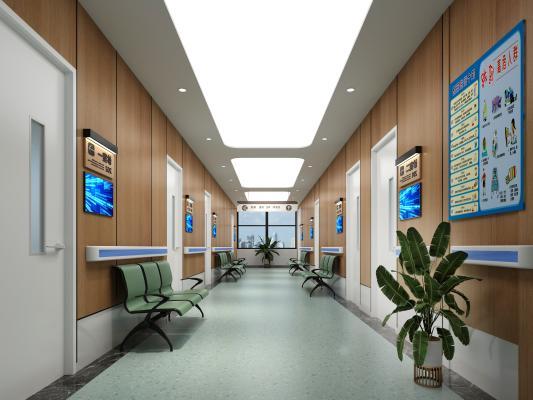 现代医院走廊