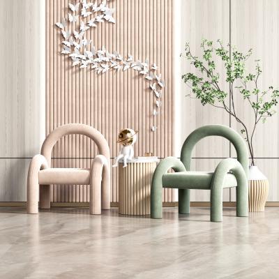 现代休闲单椅 边几组合