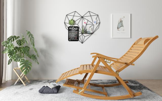 北歐搖椅 盆栽