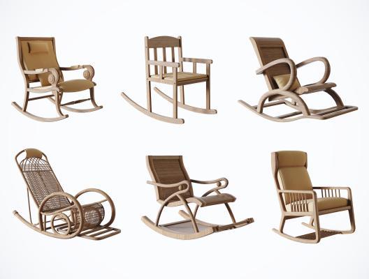 北歐風格躺椅 搖椅