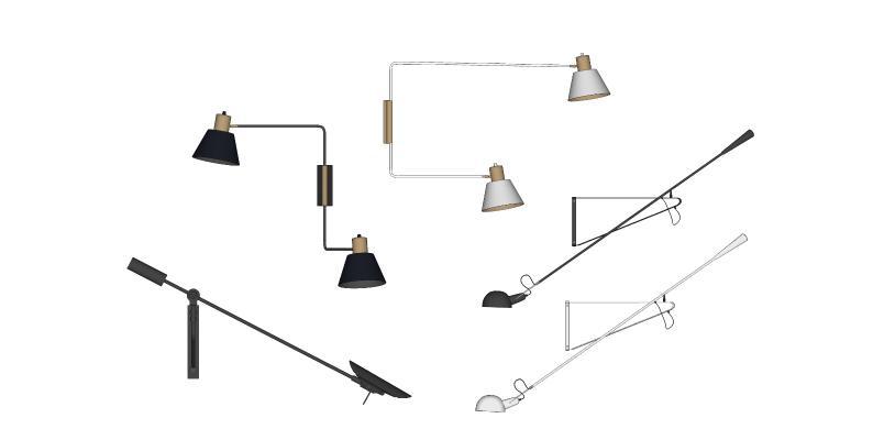 现代长条壁灯 阅读灯