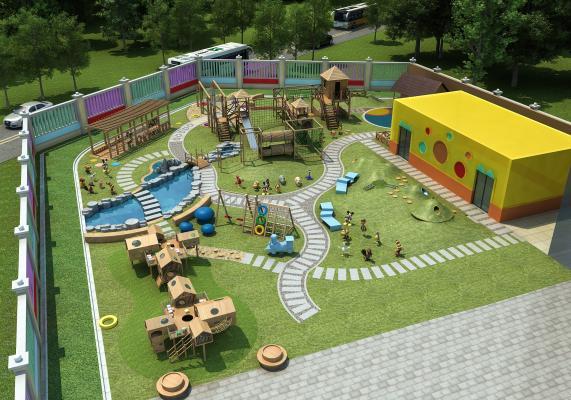 现代儿童游乐场 幼儿园 儿童游乐设施