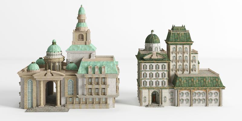 新古典别墅 城堡 配楼