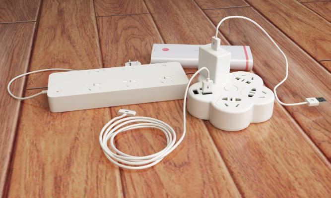 现代插座 插排 插线板