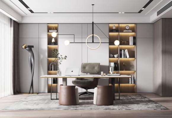 现代书房 书桌椅