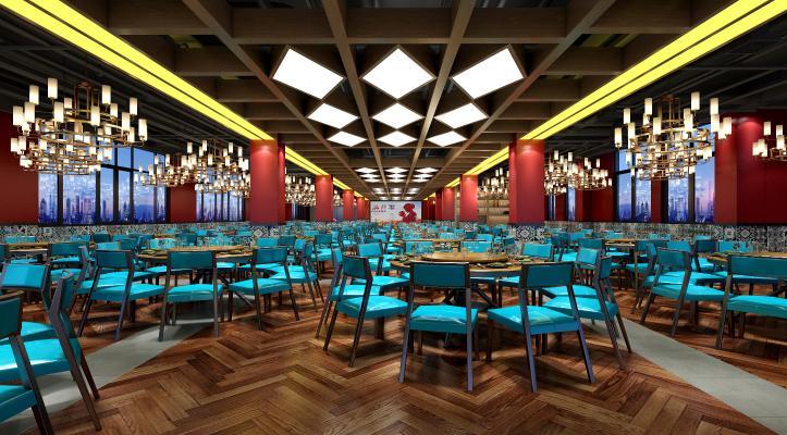 新中式宴会厅 酒店餐厅 吊灯