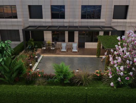 现代庭院花园