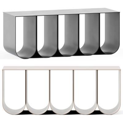 现代拱形长凳