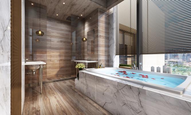 现代酒店浴室