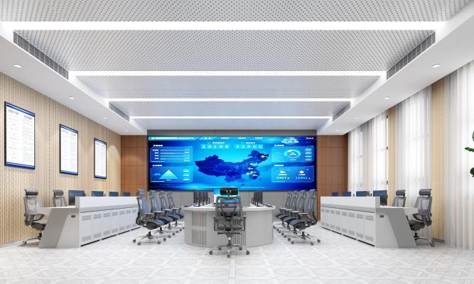 现代风格监控室 指挥中心